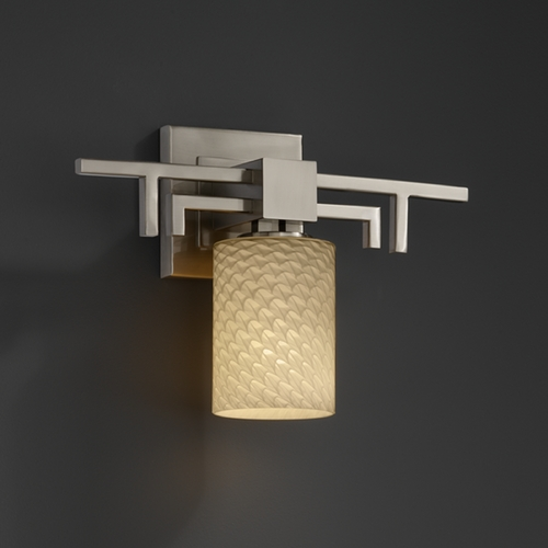 Justice Design Group Justice Design Group Fusion Collection Sconce FSN-8701-10-WEVE-NCKL