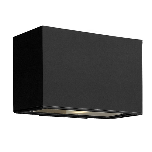 Hinkley Lighting Modern Outdoor Wall Light with White Glass in Satin Black Finish 1645SK-GU24