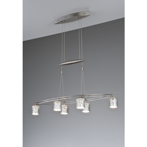 Holtkoetter Lighting Holtkoetter Modern Low Voltage Pendant Light with Silver Glass in Satin Nickel Finish 5506 SN G5031