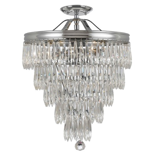 Crystorama Lighting Crystorama Lighting Chloe Polished Chrome Semi-Flushmount Light 120-CH_CEILING
