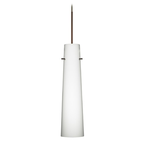 Besa Lighting Besa Lighting Camino Bronze Mini-Pendant Light with Cylindrical Shade 1XT-567407-BR