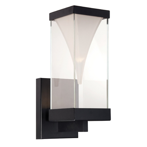 Modern Forms by WAC Lighting Modern Forms Vortex Black LED Outdoor Wall Light WS-W2116-BK