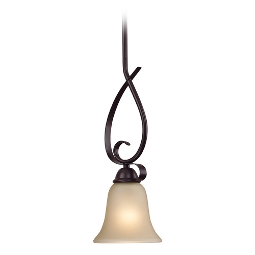 Cornerstone Lighting Cornerstone Lighting Oil Rubbed Bronze Mini-Pendant with Bell Shade 1001PS/10