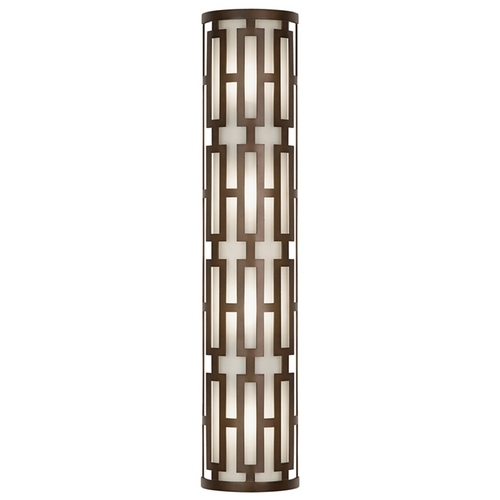 Fine Art Lamps Fine Art Lamps River Oaks Dark Bronze Outdoor Wall Light 840181ST