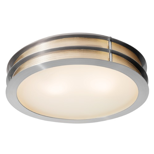 Access Lighting Access Lighting Iron Brushed Steel LED Flushmount Light 50131LEDD-BS/FST