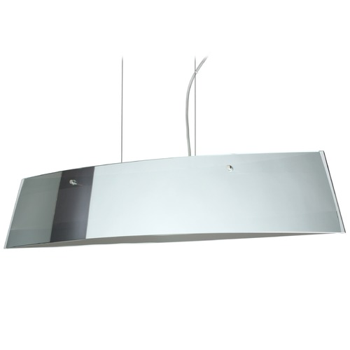 Besa Lighting Besa Lighting Silhouette Polished Nickel LED Island Light with Rectangle Shade LS4-4455MR-LED-PN