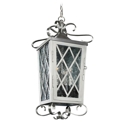 Kalco Lighting Kalco Trellis Brushed Stainless Steel Outdoor Hanging Light 402250SL