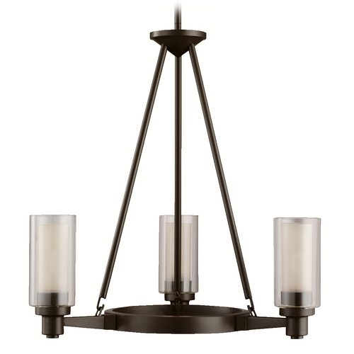 Kichler Lighting Kichler Modern Chandelier with Clear Glass in Olde Bronze Finish 2343OZ