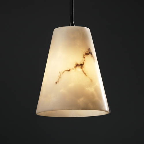 Justice Design Group Justice Design Group Lumenaria Collection Mini-Pendant Light FAL-8816-50-DBRZ
