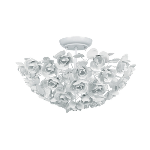 Crystorama Lighting Semi-Flushmount Light in Wet White Finish 530-WW