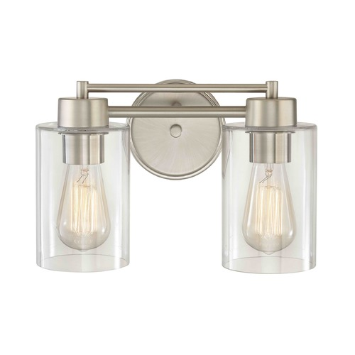 Design Classics Lighting Satin Nickel Bathroom Light 702-09 GL1040C