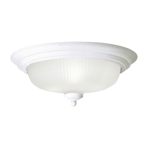 Progress Lighting Progress Flushmount Light with White Glass in White Finish P3548-30EBWB