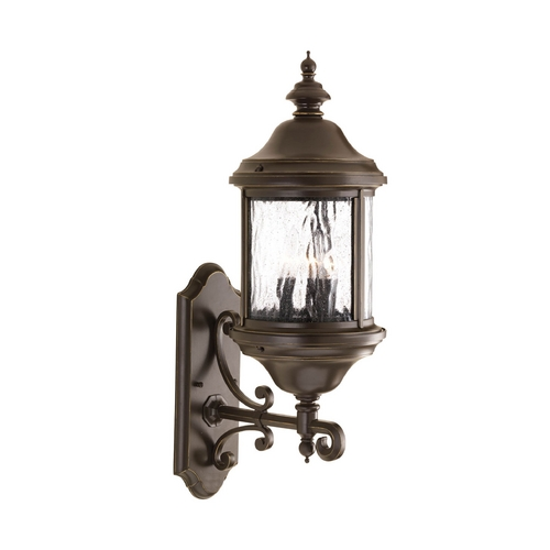 Progress Lighting Outdoor Wall Light with Clear Glass in Antique Bronze Finish P5652-20