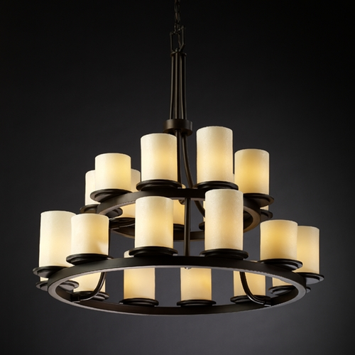 Justice Design Group Justice Design Group Candlearia Collection Chandelier CNDL-8767-10-CREM-DBRZ