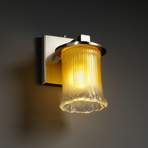 Justice Design Group Justice Design Group Veneto Luce Collection Sconce GLA-8771-16-GLDC-NCKL