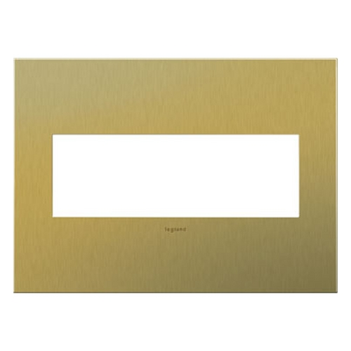 Legrand Adorne Legrand Adorne Brushed Brass 3-Gang Switch Plate AWC3GBB4