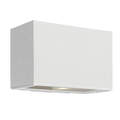 Hinkley Lighting Modern Outdoor Wall Light with White Glass in Satin White Finish 1645SW-GU24