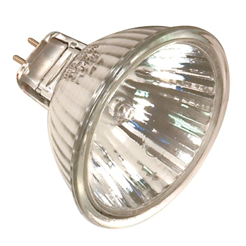 Satco Lighting MR-16 Halogen Light Bulb 2 Pin Narrow Spot 10 Degree Beam Spread 2900K 12V Dimmable S2603