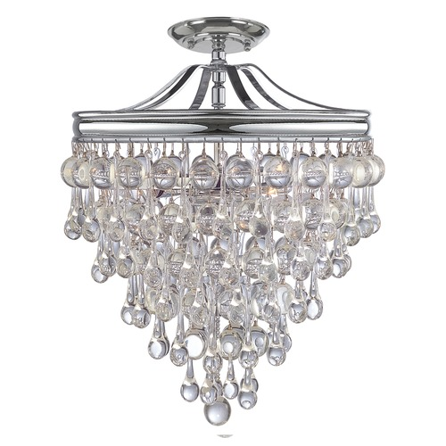 Crystorama Lighting Crystorama Lighting Calypso Polished Chrome Semi-Flushmount Light 130-CH_CEILING