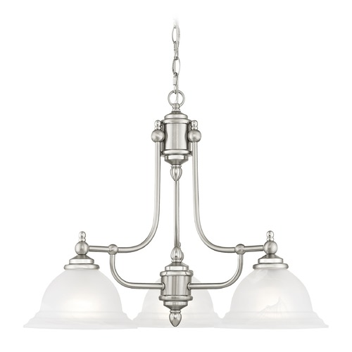Livex Lighting Livex Lighting North Port Brushed Nickel Chandelier 4253-91