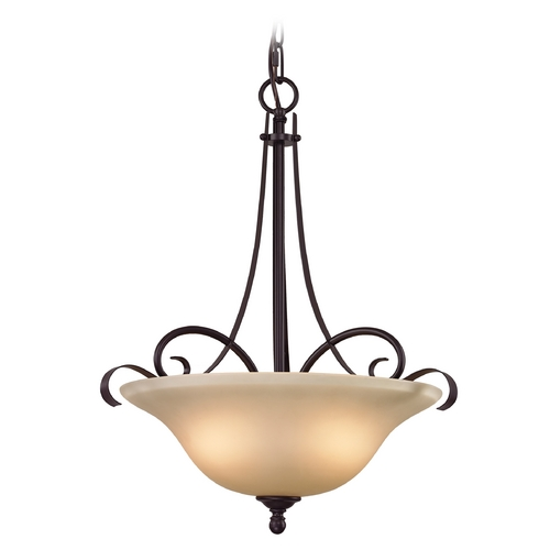 Cornerstone Lighting Cornerstone Lighting Brighton Oil Rubbed Bronze Pendant Light 1003PL/10