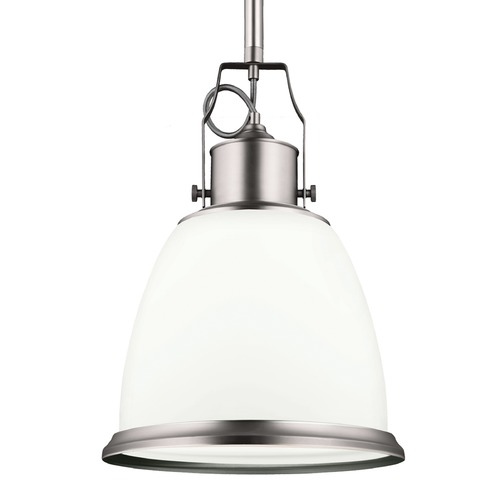 Feiss Lighting Feiss Hobson Satin Nickel Pendant Light P1353SN