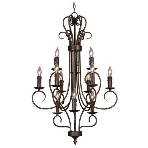 Golden Lighting Golden Lighting Rubbed Bronze Chandelier 8512 RBZ