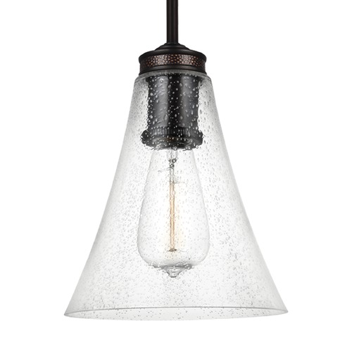 Feiss Lighting Feiss Lighting Marteau Oil Rubbed Bronze Mini-Pendant Light with Bell Shade P1427ORB
