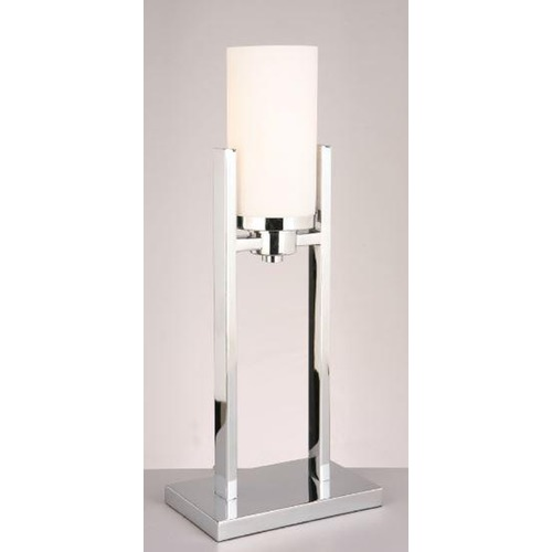 Lite Source Lighting Lite Source Caesarea Chrome Table Lamp with Cylindrical Shade LS-22811