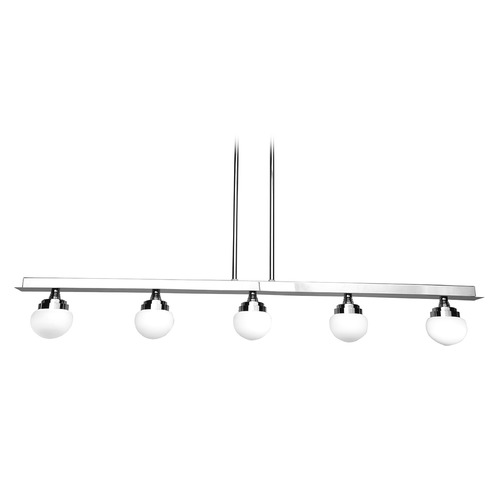 Access Lighting Chrome Mid-century modern Island Light Chrome by Access Lighting  62476LEDD-CH/OPL