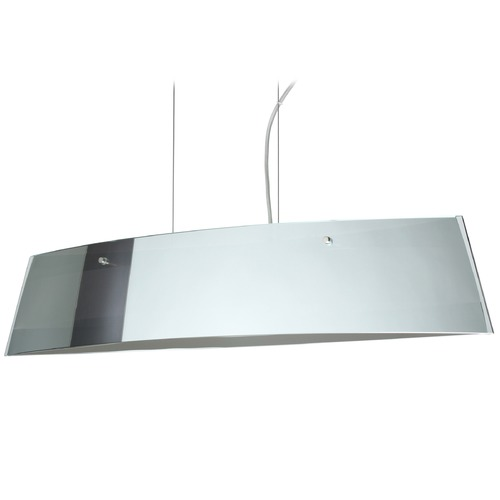 Besa Lighting Besa Lighting Silhouette Satin Nickel LED Island Light with Rectangle Shade LS4-4455MR-LED-SN