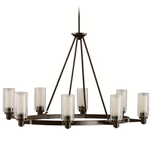 Kichler Lighting Kichler Chandelier Light with Clear Glass in Olde Bronze Finish 2345OZ
