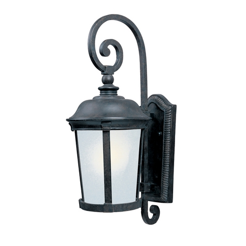Maxim Lighting Outdoor Wall Light with White Glass in Bronze Finish 86095FSBZ