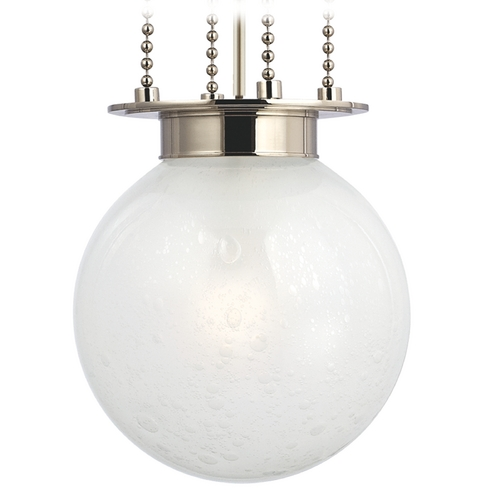 Hudson Valley Lighting Pendant Light with White Glass in Polished Nickel Finish 4211-PN-FB