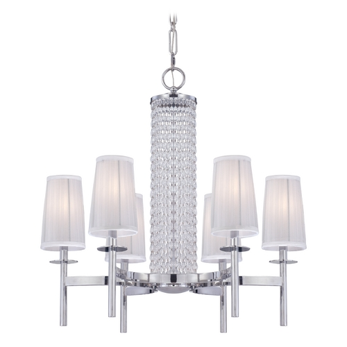 Designers Fountain Lighting Chandelier with Silver Shades in Chrome Finish 83986-CH