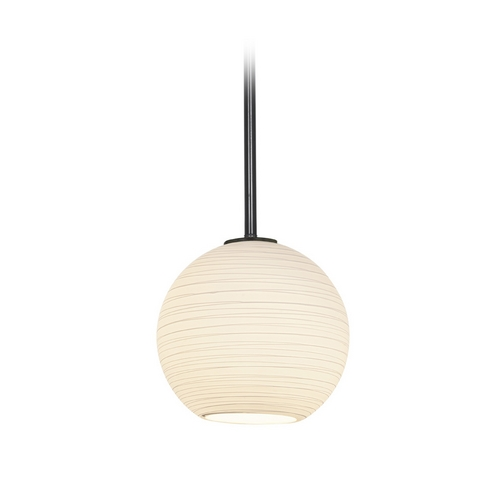 Access Lighting Modern Mini-Pendant Light with White Glass 28085-2R-ORB/WHTLN
