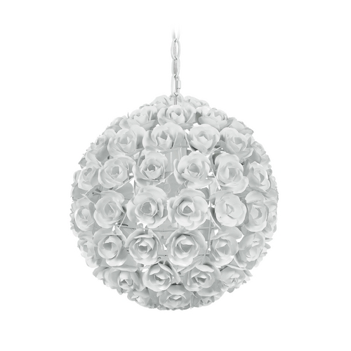 Crystorama Lighting Crystal Pendant Light in Wet White Finish 537-WW