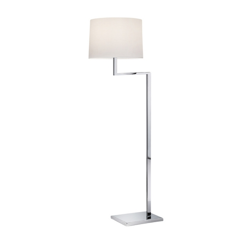 Sonneman Lighting Modern Swing Arm Lamp with White Shade in Polished Chrome Finish 6426.01