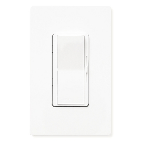 Lutron Dimmer Controls 600-Watt Single Pole/3-Way Incandescent Dimmer with Eco-Dim DV-603PG-WH-H