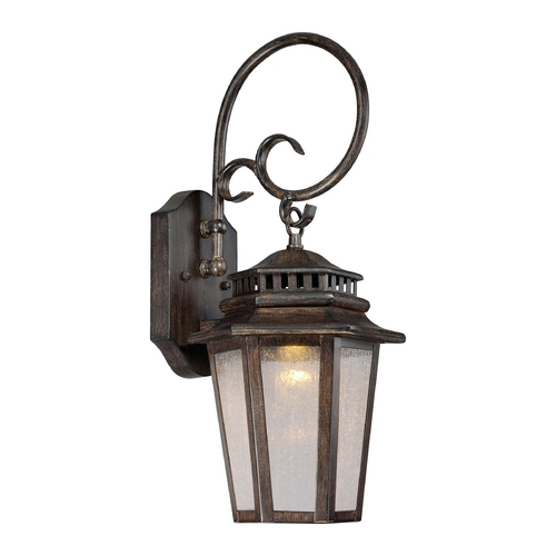 Minka Lavery LED Outdoor Wall Light with Clear Glass in Iron Oxide Finish 8272-A357-L