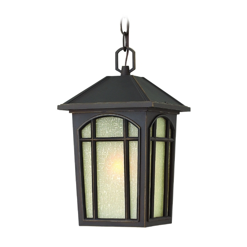 Hinkley Lighting LED Outdoor Hanging Light with White Glass in Oil Rubbed Bronze Finish 1982OZ-LED