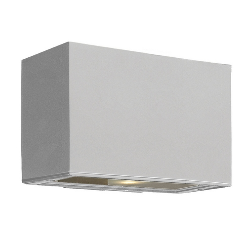 Hinkley Lighting Modern Outdoor Wall Light with White Glass in Titanium Finish 1645TT-GU24