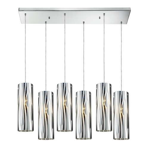 Elk Lighting Modern Multi-Light Pendant Light with White Glass and 6-Lights 31078/6RC