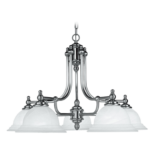 Livex Lighting Livex Lighting North Port Brushed Nickel Chandelier 4255-91