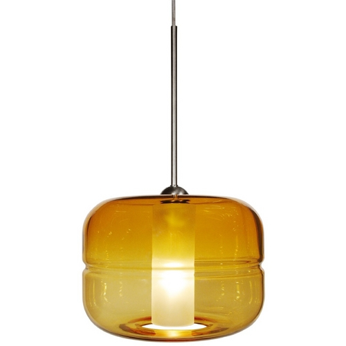 Oggetti Lighting Oggetti Lighting Helsinki Satin Nickel Pendant Light with Drum Shade 29-5900A