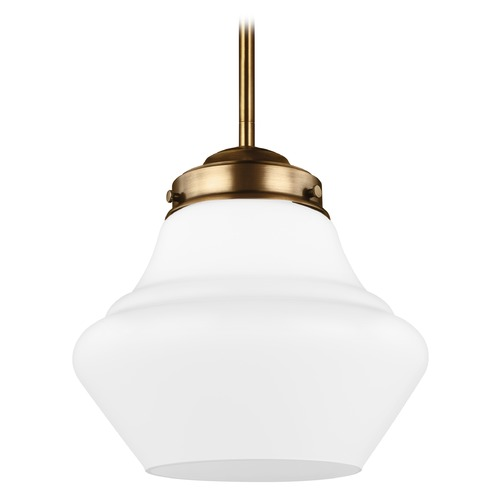Feiss Lighting Feiss Alcott Aged Brass LED Mini-Pendant Light P1404AGB-LED