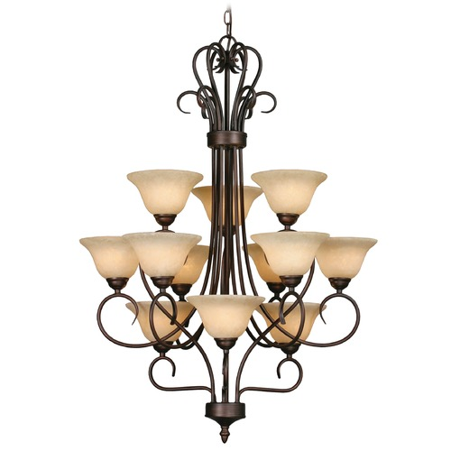 Golden Lighting Golden Lighting Rubbed Bronze Chandelier 7623 RBZ-TEA