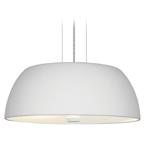 Eglo Lighting Eglo Ryan White Pendant Light with Bowl / Dome Shade 90366A