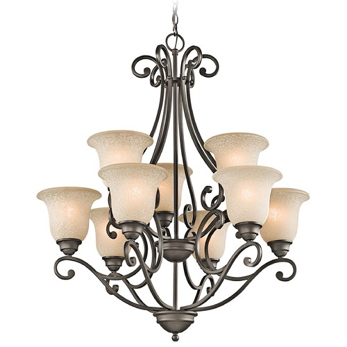 Kichler Lighting Kichler Chandelier with White Scavo Glass in Olde Bronze Finish 43226OZ