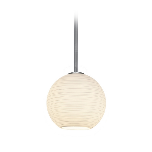 Access Lighting Modern Mini-Pendant Light with White Glass 28085-2R-BS/WHTLN